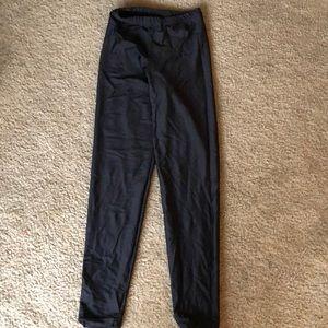 American Apparel Black nylon tricot leggings